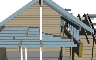 Hirsirakennuksen rakennesuunnittelua