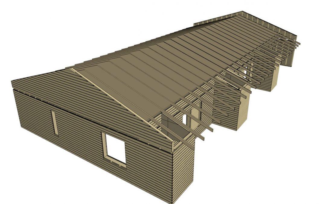 Rivitalon rakennesuunnittelu ja elementointi