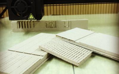 Seinäelementin pienoismallit 3D-tulostimella